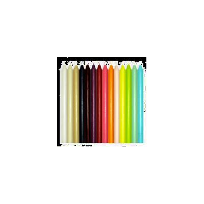Pack 10 bougies couleur variées au choix