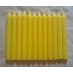 Pack 10 bougies cire d'abeille naturelle