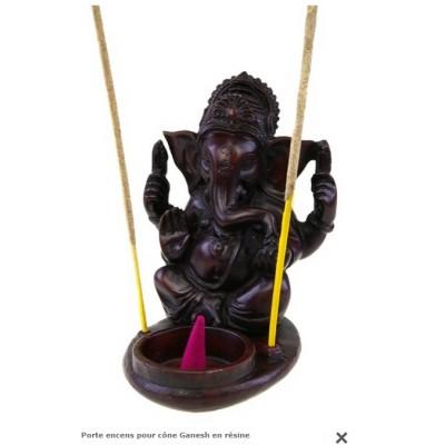 Porte-encens cônes et bâtons Ganesha