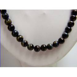 Oeil de faucon Collier boule 8 mm