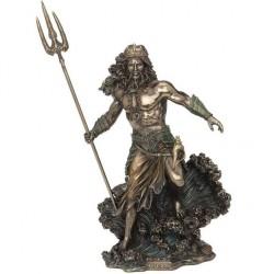 Satue Grecque Poséidon bronze polyrésine 53 cms